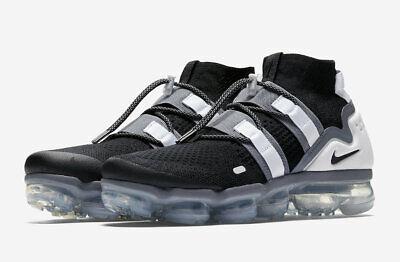 7709c49dc1b63 DS Nike Men s Air VaporMax FK Utility Flyknit Black Cool Grey AH6834 003  Size 11