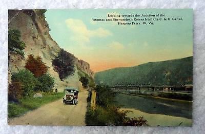 Postcard Harpers Ferry West Virginia Junction Potomac   Shenandoah Rivers  54