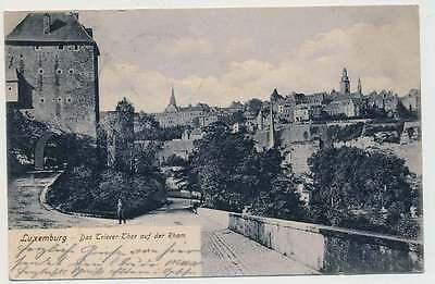 AK LUXEMBURG,Das Trierer Thor auf der Rham, gelaufen 1904 nach APOLDA (24476)
