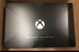 Xbox one x Project Scorpio 1TB.New and Sealed.