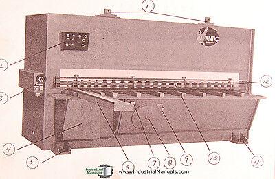 Atlantic Cost Cutter 10ft. X 12 Shear Operations Maintenance Manual 1986