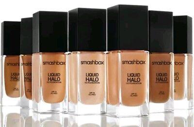 NIB Smashbox Liquid Halo HD Foundation SHADE 5 Oil Free & Photo Finish SPF15 (Smashbox Liquid Halo Hd Foundation Spf 15)