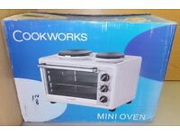 Cookworks mini oven; brand new, for sale