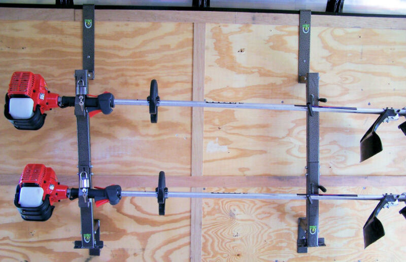 2 Place Weedeater Trimmer Rack for ENCLOSED trailerLockable- PK-5/PK-6S/PK-6S2
