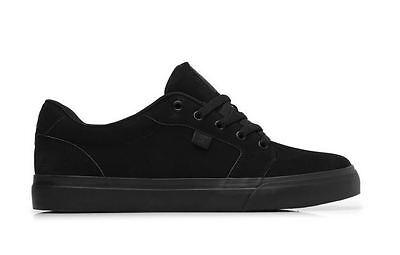 - DC Anvil Men Skateboard Sneakers Black Nubuck Vent Hole Suede 303190 BB2 L