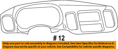 Dodge CHRYSLER OEM 11-15 Charger Instrument Panel Dash-Cluster Trim 1VD98DX9AA