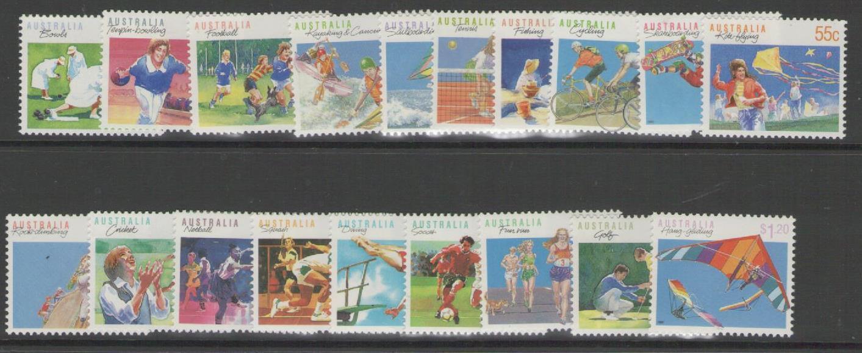 AUSTRALIA SG1169/94 1989-94 SPORTS MNH