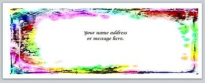 Personalized Address Labels Colorful Paint Splashes Buy 3 Get 1 Free Bo 490