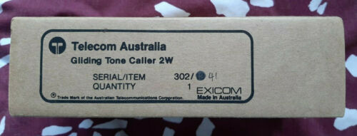 1980s Vintage Telecom Australia Gliding Tone Caller 2W - Brand New in Box