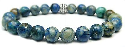 Bracelet - Chrysocolla 8mm Round Crystal Bead With Description - Healing Stone