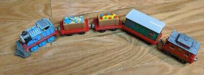 Thomas & Friends Diecast Train Holiday Christmas Set Lot 5 Take n Play Along Toy