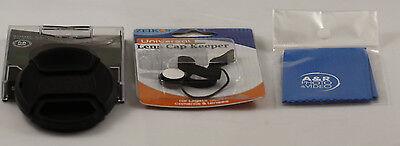 Lens Cap Cover For Sanyo Vpc-e2100 E2100 Front Cap With Holder 52