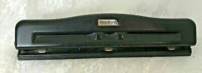 Stockwell Office Products Vintage 3 Hole Punch Metal Adjustable Heavy Duty
