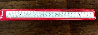 Starrlett Steel Ruler Spring Tempered 6 6r Grad C606r-6