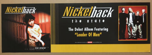 NICKELBACK Rare 1999 BANNER PROMO POSTER for State CD 36x12 NEVER DISPLAYED USA