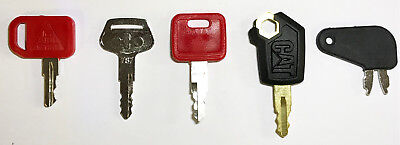 Heavy Equipment Key Set 5 Keys Cat John Deere  Komatsu Caterpillar