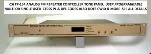 CSI TP-154 REPEATER CONTROLLER UHF or VHF TONE PANEL  FOR GMRS COMMERCIAL  HAM