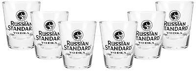 Russian Standard Shotglas Shotgläser Set - 6 Stück 2/4cl geeicht