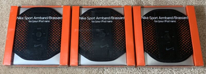 Lot Of 3 New $29 Nike Sport Armband/Brassard For iPod Nano Adult Unisex Red