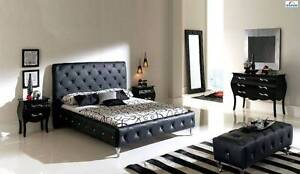 New/Ex.Dis ITALIAN Design PU Leather Queen/King Bed From $42 P/W Virginia Brisbane North East Preview