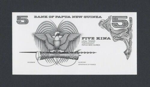 Papua New Guinea Plate PROOF 5 Kina UNC