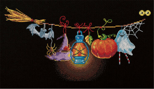"""""""Loft bunting"""" Counted  Needlework Embroidery Cross Stitch Kit PR-7060"""