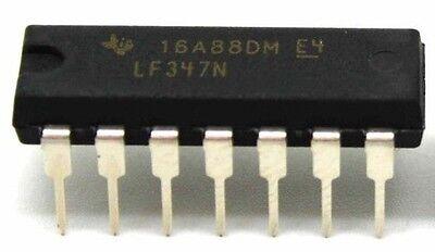 10pcs Texas Instruments Lf347n Lf347 Quad Operational Amplifiers Dip-8 - New Ic