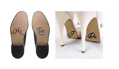 I Do Too (I Do and Me Too Wedding Vinyl Shoe Decals Bride Groom)