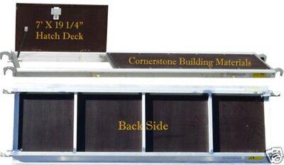 New Aluminum Plywood Hatch Deck Platform 7 X 19 Scaffolding Tower Cbm1290