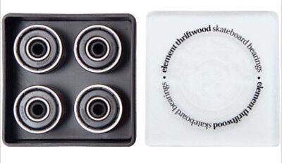 Element ABEC 3 Black Thriftwood Skateboard Bearings