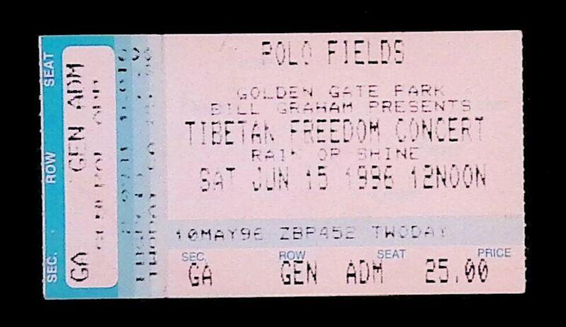 Beastie Boys John Lee Hooker Foo Fighters Richie Havens 6/15/96 SF Ticket Stub!