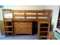 Childrens Pine Midi Sleeper bed & Furniture (next)