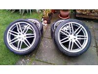 """20"""" Audi RS Alloy Wheels 5x112, ET46 9Jx20 - tyres 275/35/20, Genuine Audi Part 4E0601025BE"""