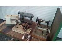 Vintage sewing machines x 5.