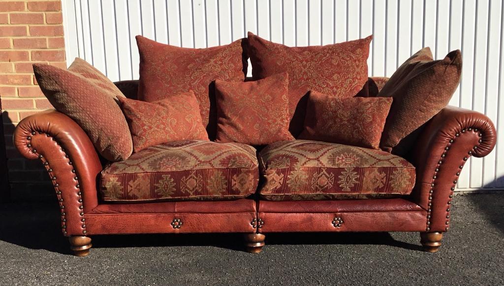 Stunning Grandi Tetrad Eastwood 2 3 Seater Sofa Buffalo Hyde Leather W