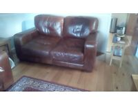 Lush sofa Brown Italian leather