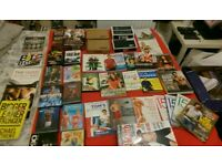 Huge lot of fitness exercise dvd, weights, books, fitbit blaze, resistance band