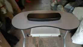 Portable table for doing nails