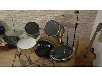 Hard wood drum kit