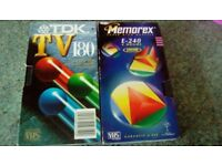 Used recordable vhs/bush tapes
