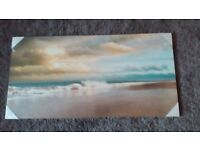 Canvas pic....large feature wall size...120cms wide,boxed , lovely calm scene