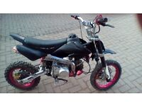 Pitbike 125 for sale clean nice good condition....new tyres tubes ..................................