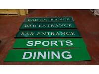 Job lot of x5 Signs. Ideal for pubs and bars £20 each
