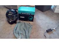 Black Motorcycle Crash Helmet, Size Small, SPADA