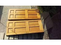 2 x solid wood doors
