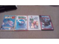 4 Childrens Dvd Films Free Delivery