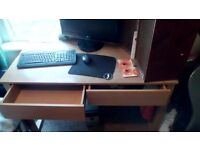 Large sturdy desk with two big drawers for sale