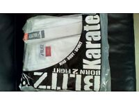 KARATE SUIT BLITZ WHITE 160cm NEW