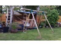 Gibbon wooden swing set