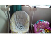 Grace baby swing Immaculate condition hardly used. £30 pounds or nearest offer collection only.